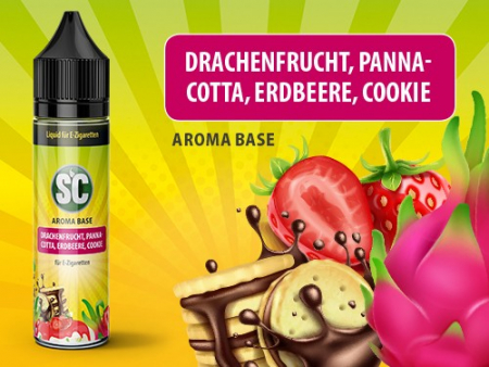 Shake and Vape Drachenfrucht, Pannacotta, Erdbeere, Cookie 0mg/ml 50ML